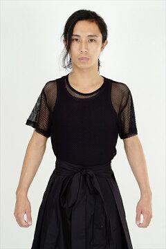 半袖メッシュTシャツ(黒)