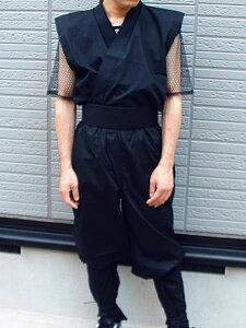 忍者衣装・夏VersionメッシュTシャツ付(黒)LLサイズninja wear