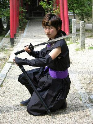 くノ一(くの一・女忍者)装束(黒・紫)kunoichi wear(woman ninja) 【マラソン1106P05】