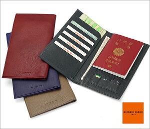 【送料無料】海外旅行・出張に最適な本革パスポートケース トラベルグッズジョルジオフェドン[...
