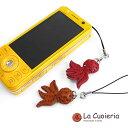 ラ クオイエリア [【La Cuoieria】 レザーストラップ タコ【3点まで DM便(メール便)OK】](携帯ストラップ)【チャーム 革 プチギフト メンズ レディース】【RCP】