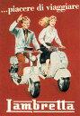 ポスター イタリア ランブレッタ バイク 直輸入 イタリア製 ポスター おしゃれ ヴィンテージ レトロ 大きい インテリア I.F.I ポスター/ラッピングペーパー 50×70 LAMBRETTA CR038