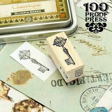 ラバースタンプ 100プルーフプレス 100 Proof Press #2819 傘 Fancy Umbrella はんこ かわいい おしゃれ アンティーク ヴィンテージ レトロ クラシック カサ アンブレラ