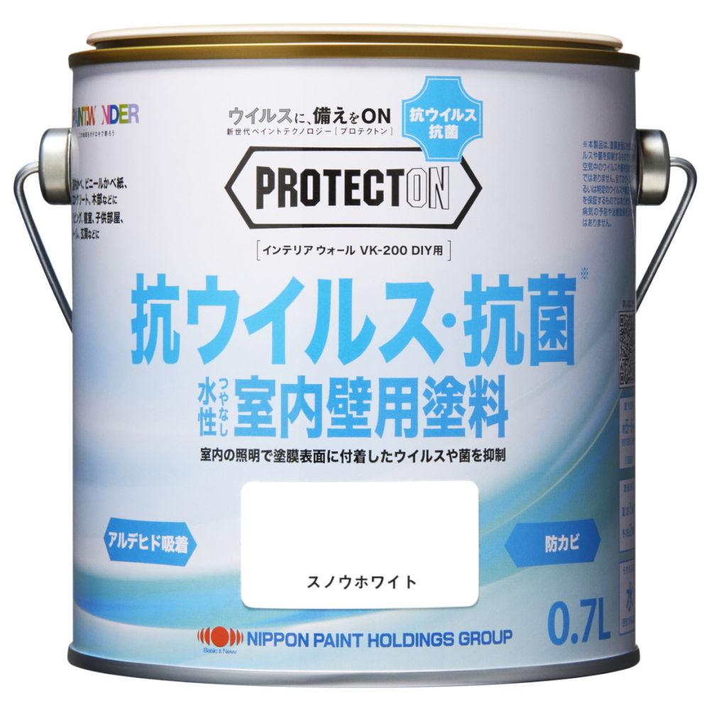 ペンキ 抗菌 抗ウイルス 水性塗料 PROTECTON-プロテクトン- インテリアウォール VK-200 DIY用 0.7L ニッペホームオンライン | 抗菌・抗ウイルス塗料