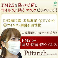 マスコミの取材殺到PM2.5+防菌・防ウイルスマスクピッタリッチ【洗って100回は再利用可能】…