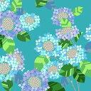 超撥水風呂敷ながれ 紫陽花 あじさい(平織96cm)日本製 朝倉染布 レイングッズ エコバッグ 防災