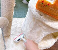 日本シールエチケットブラシちょこっと掃除猫兼用カーペット掃除抜け毛取り