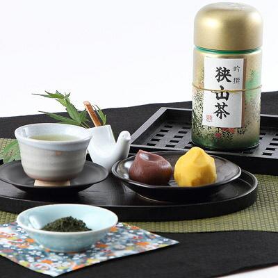 伝統の火入れによる濃いお茶 狭山茶缶入り100g×3本セット