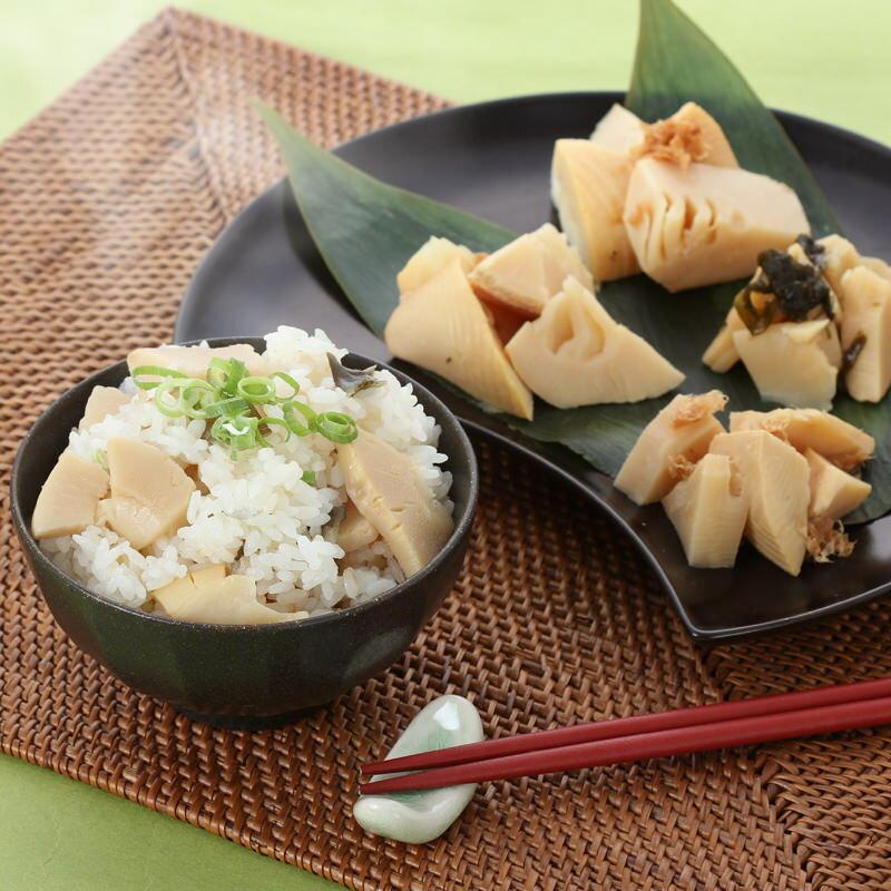 竹の子ごはんの素・京の春筍・うま煮詰合せ〔筍ごはんの素、京の春筍(鰹、ゆず)、うま煮(鰹、わかめ)〕