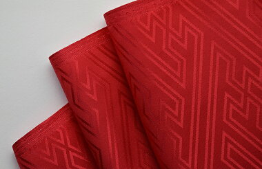 紗綾形(さやがた)サテンジャガード和柄織