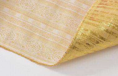日本製帯地ゴブラン白金色72cm巾【生地布】