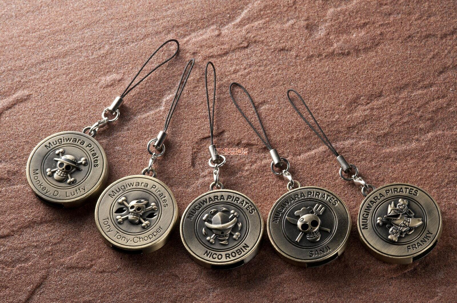 ONE PIECE(ワンピース)コイン型キーホルダーUSBメモリー2G付5種類セットA【ルフィ・チョッパー・ロビン】【サンジ・フランキー】【ポイント20倍】【在庫限り】【20P03Dec16】