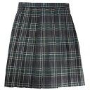 ビーステラ スクールスカート (チャコール×グリーン)