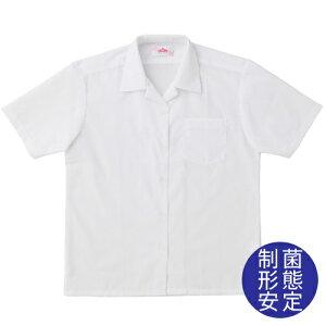 ビーステラ半袖開衿スクールシャツ(制菌加工)