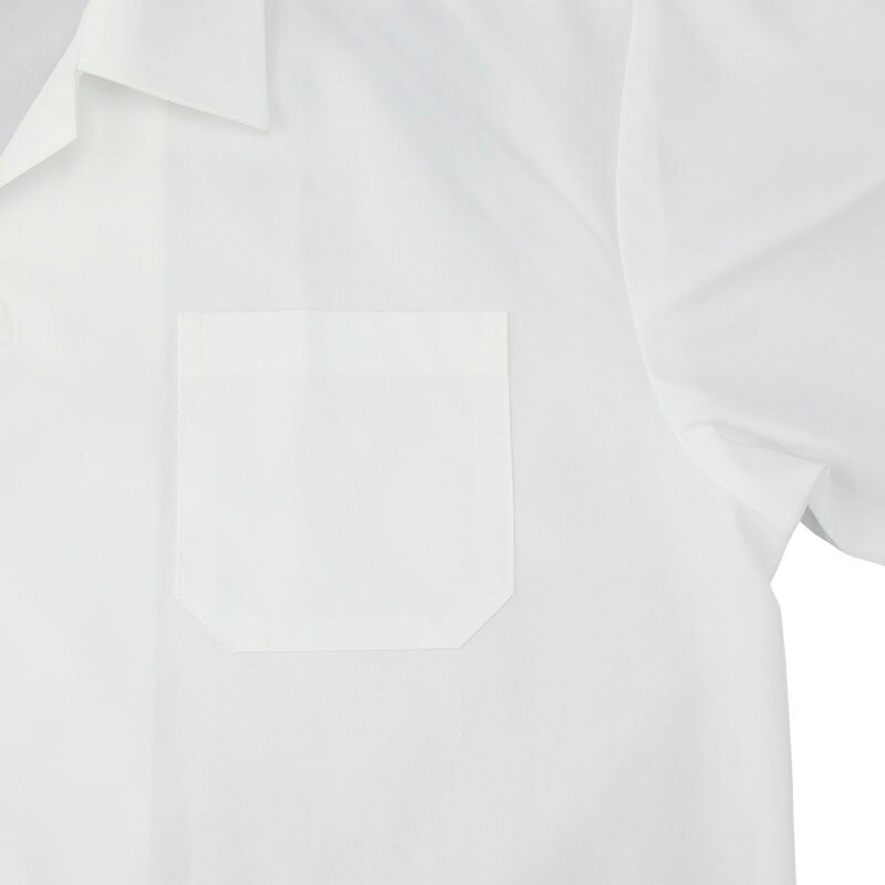 学生服開襟半袖スクールシャツ ワイシャツ 男子 形態安定/防汚加工/抗菌防臭 白 150B-185B【返品・交換不可商品】