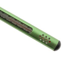 riverpeak(リバーピーク)フライフィッシングサーモ水温計アルミカバーメタリックグリーンカラビナ付きRP-TL700