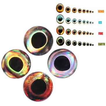 フィッシュアイ ルアー ルアーアイ ジグ リアル 4D ベイト 目 24個セット サイズバリエーション3mm 4mm 5mm 6mm、カラー4種類有 【ゆうパケットOK】05P03Dec16