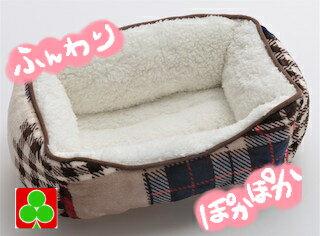 ペッツラブパッチワーク調ベッド(Sサイズ)犬猫ベッドもこもこあったかふわふわペットかわいいおすすめ