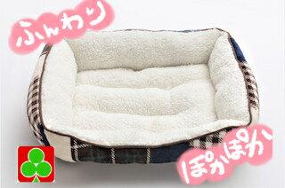 ペッツラブグリーン犬猫ベッドもこもこあったかふわふわペットパッチワークかわいいおすすめパッチワーク調ベッド(L)