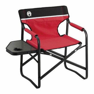 Coleman 収束型チェア コールマン 折り畳み椅子 コールマン  サイドテーブルデッキチェアST レッド  キャンプ チェア ディレクターチェア イス