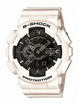 CASIO G-shock メンズ腕時計  GA-110GW-7AJF G-SHOCK 白 ホワイト メタリック g-shock ワールドタイム  国内正規品