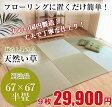 国産 置き畳 琉球畳 半畳 67x67cmx厚み15mm (9枚セット) サイズオーダー対応 [置き畳 ユニット畳 国産 い草 人気 おすすめ 高級]