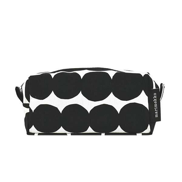 値引きクーポン配布中 マリメッコMARIMEKKOポーチ化粧ポーチコスメポーチレディースブランドブラックホワイト黒白47245