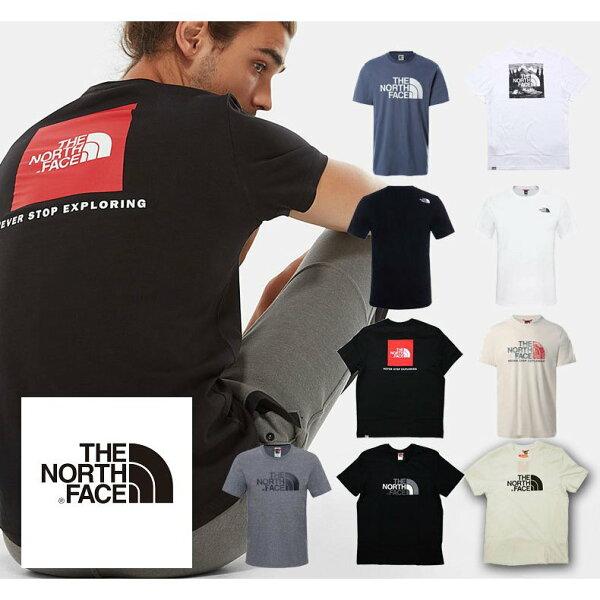 値引きクーポン配布中 ザノースフェイスTシャツ半袖THENORTHFACEメンズロゴクルーネックUSA規格ビッグシルエットt9