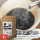 玄米コーヒー 玄米珈琲 粗挽きドリップタイプ 100g×2袋セット (無農薬 有機JAS玄米100%使用 ノンカフェイン)