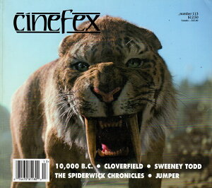 cinefex No.113 10,000 B.C./ Cloverfield/ Sweeney Todd/ The Spiderwick Chronicles/ Jumper April 2008(cinefex) 洋書 洋画 メイキング