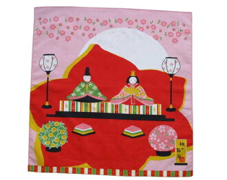 The おのみちこ five festivals furoshiki Girl's Festival