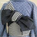 【綿の半巾帯★コットン100%】リバーシブル-半幅帯