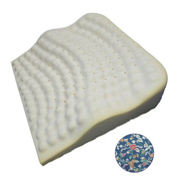 低反発枕/ピロー 【背中フィット】 洗えるカバー付き(フラワーガーデン)