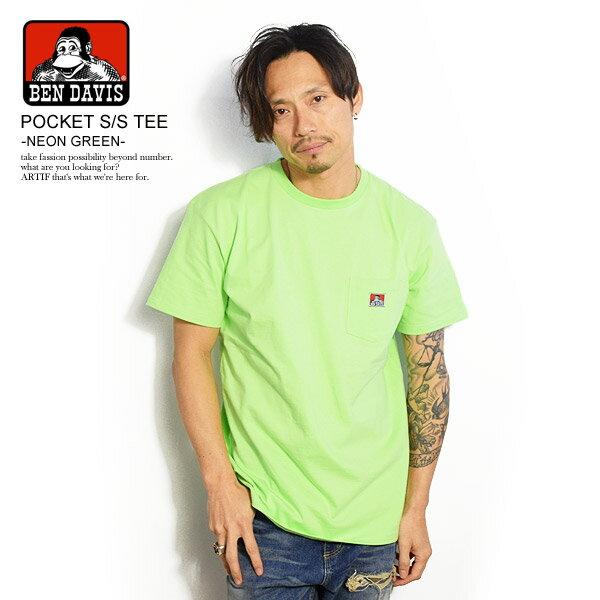 トップス, Tシャツ・カットソー  BEN DAVIS POCKET SS TEE -NEON GREEN- bdzt-0099 T T bendavis t