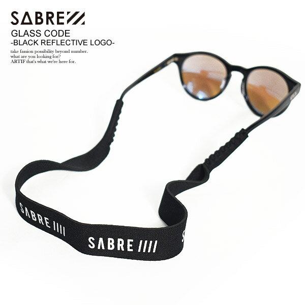 眼鏡小物, 眼鏡ストラップ  SABRE GLASS CODE -BLACK REFLECTIVE LOGO- ssac00009bk sabre