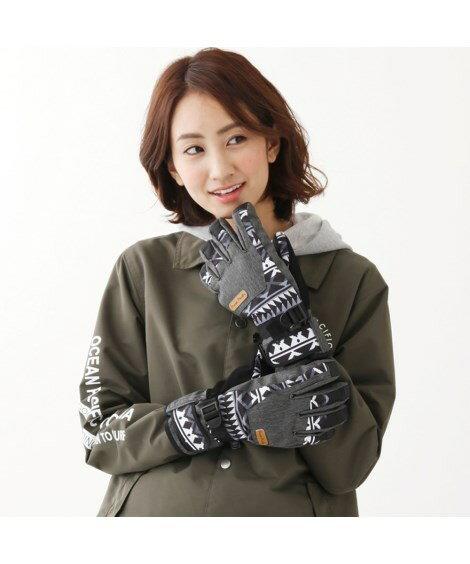 手袋・アームカバー スノー対応プリント手袋(OP)_ニッセン_nissen