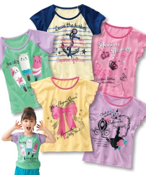 f6604246faa16 アウター キッズ 女の子プリント半袖Tシャツ5枚組(子供服) Tシャツ トップス カットソー ポロシャツ 小学生 低学年 中学年 高学年 身長 140 150 160cm ニッセン
