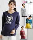 小さいサイズ マタニティ アウター プリント Tシャツ 授乳服 産前 産後 授乳しやすい カットソー ポロシャツ マタニティM/L/LL/3L/4L ニッセン