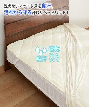 寝具 吸汗速乾汗取りベッドパッド 敷きパッド ベッドパッド クイーン ニッセン