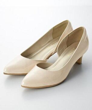 大きいサイズ レディース サイドオープンパンプス(低反発中敷) ワイズ4E パンプス 靴 ファッション 定番 23.0〜23.5/24.0〜24.5cm ニッセン