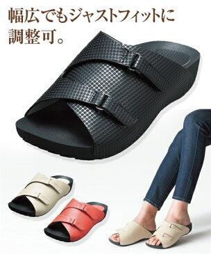 レディース アーチフィッター141アーチクッションサンダル 年中 靴 アイボリー/ブラック/レッド 22.0〜22.5/23.0〜23.5/24.0〜24.5cm ニッセン