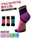 らくらくウォーキング足袋 ソックス 3色組 ダイエット フィットネス ピンク+オレンジ+ブルー 22.0〜25.0cm ニッセン その1