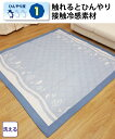 ラグ 洗える 接触冷感 ナチュラル柄ラグ カーペット グレー/ブルー 約185×185cm ニッセン