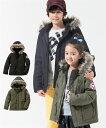 キッズ モッズ風 中綿 ジャケット 子供服 男の子 女の子 ジュニア服 カーキ/黒 身長100〜160cm ニッセン