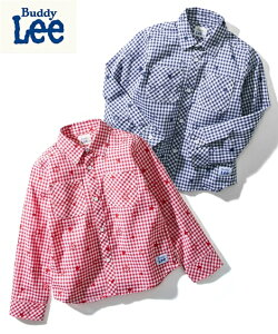 BUDDY Lee キッズ Buddy Lee バディ リー ギンガムチェック シャツ 男の子 女の子 ベビー 服 子供服 トップス ブルー/赤 身長90/100/110/120cm ニッセン