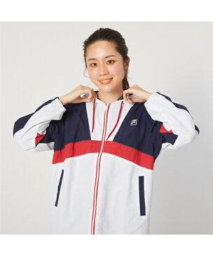 FILA スポーツウェア トップス 大きいサイズ レディース UVカット 配色切替 ジャケット ネイビー 3L/4L/5L ニッセン