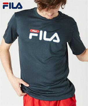 FILA 水着 メンズ 水陸両用 UVカット プリント 半袖 Tシャツ 耐塩素対応 ネイビー/ブラック M/L/LL ニッセン nissen
