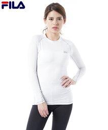 FILA 大きいサイズ レディース 長袖 コンプレッション シャツ ブラック/ホワイト 6L/8L/10L ニッセン nissen