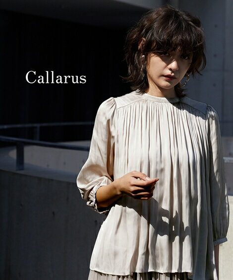 レディースファッション, ワンピース  Callarus VINTAGE SATIN BLOUSE ML nissen