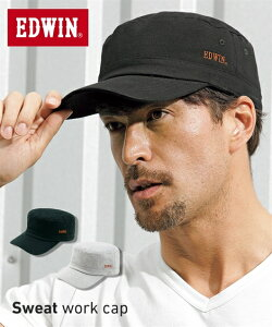 【NEW】 エドウイン(EDWIN) スウェットワークキャップ メンズ 額や頭に汗をかいてもやさしく包み込むスウェット素材のキャップ 日焼け対策バッチリ! 帽子 ニッセン 【20春夏新入荷】